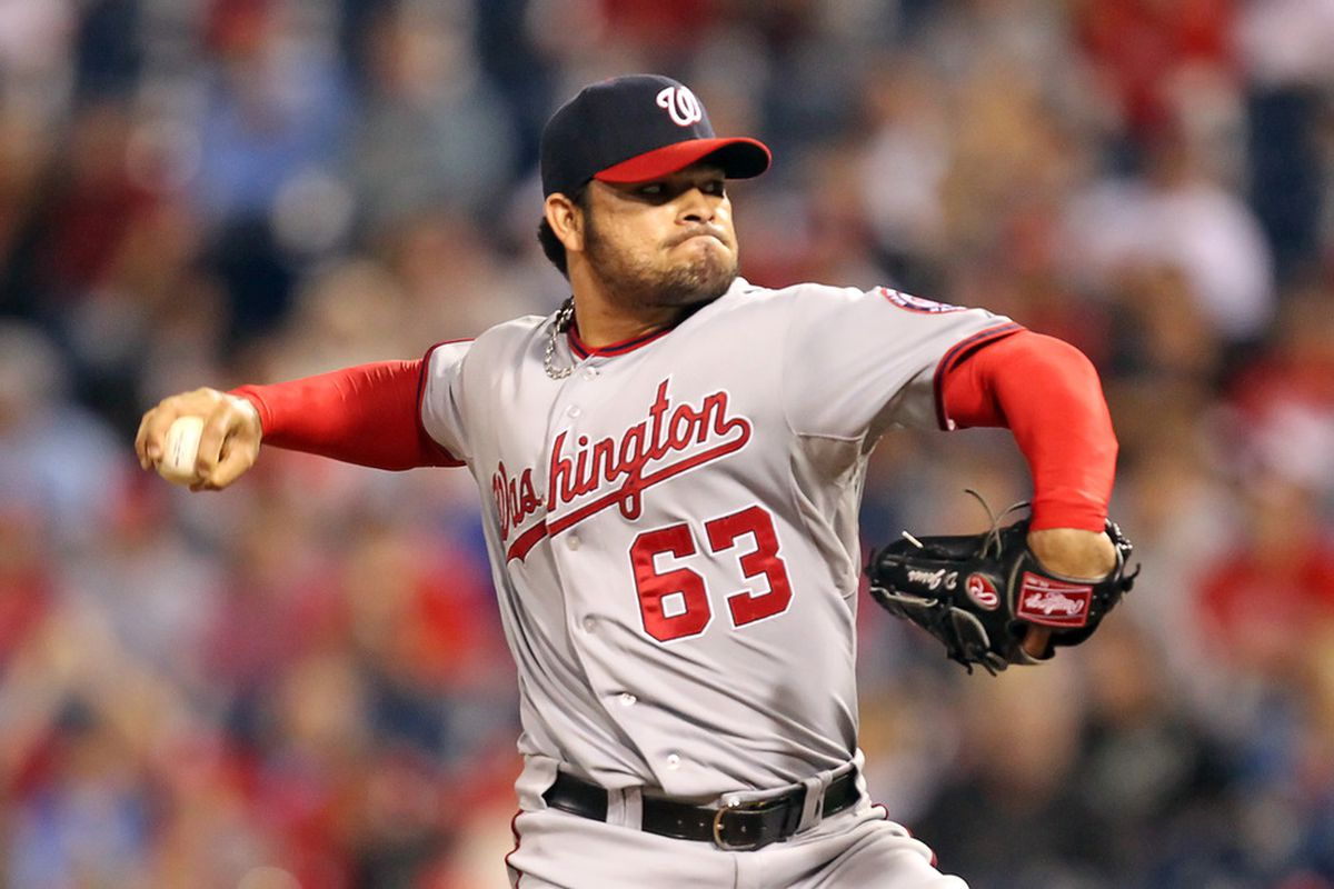 Flame-throwing Nationals reliever Henry Rodriguez could pick up saves in Drew Storen's absence. (Photo by Hunter Martin/Getty Images)