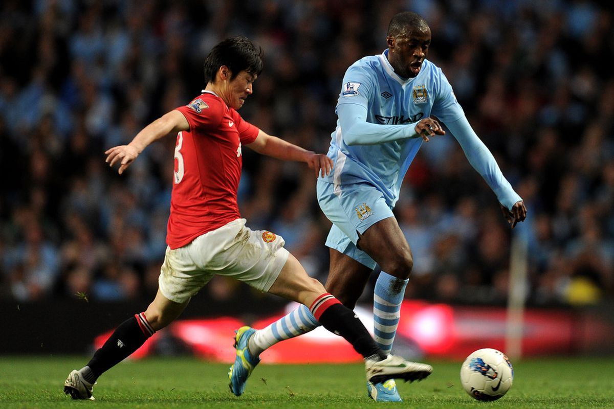 Park Ji-sung was tasked with the difficult assignment of containing Yaya Toure