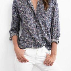 """Velvet """"Neela"""" cotton blouse, <a href=""""http://www.shoptiques.com/products/neela-cotton-blouse"""">$108</a>"""