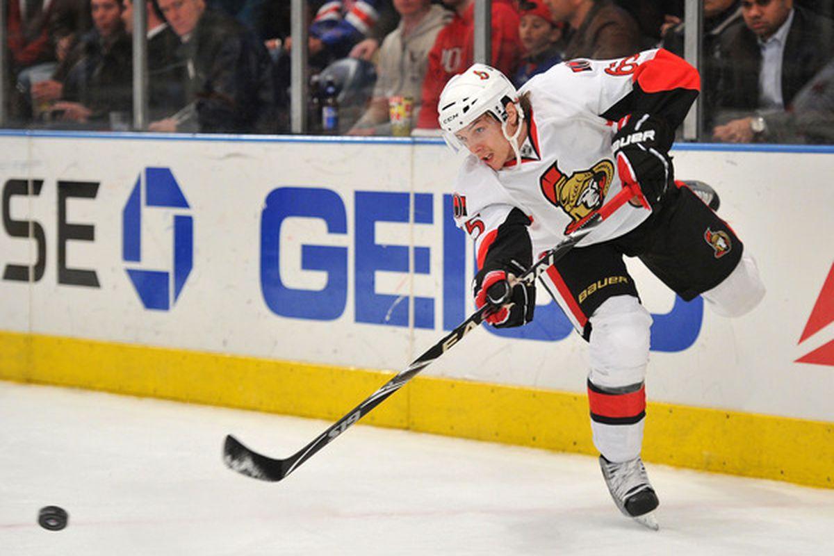 Erik Karlsson gets top marks for his performance in the first half of the 2011-12 Ottawa Senators season.
