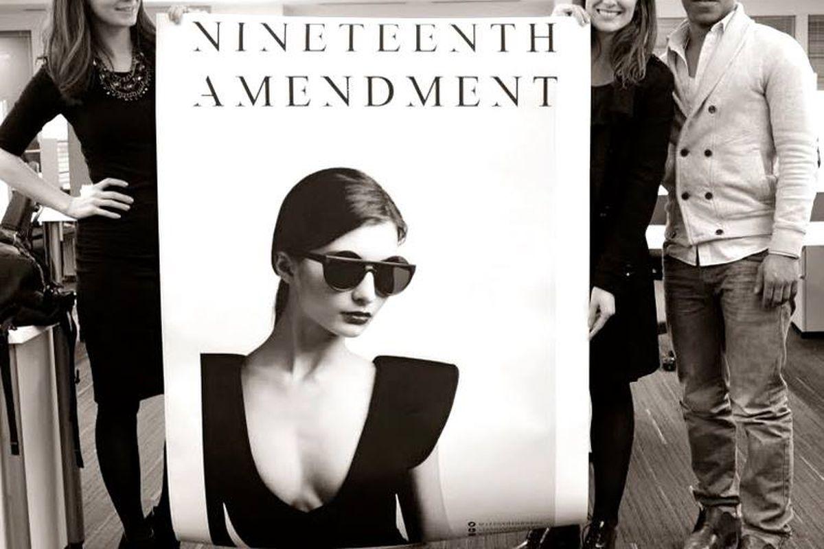 """Image via <a href=""""https://www.facebook.com/19thAmendment"""">Nineteenth Amendment</a>/Facebook"""