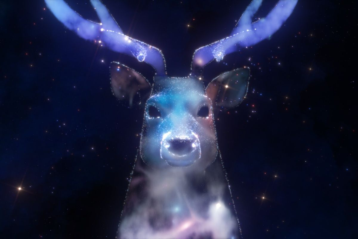 a celestial stag in Zenith