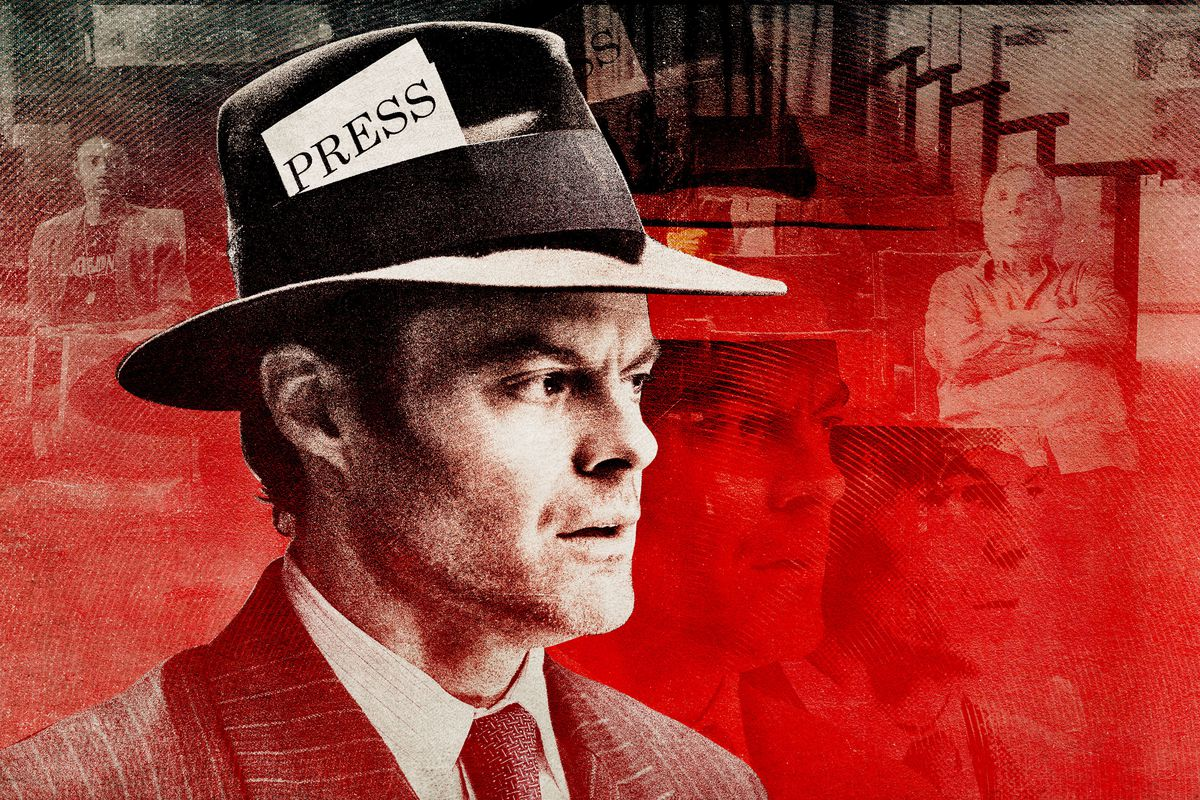A photo illustration of Bill Hader as Barry in 'Barry'