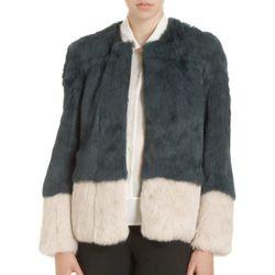 "<b>Funktional</b> Colorblock Fur Jacket, <a href=""http://www.barneys.com/Funktional-Colorblock-Fur-Jacket/502267359,default,pd.html?cgid=women&index=26"">$736</a> at Barneys"