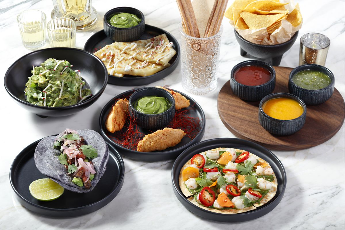 An array of small dishes