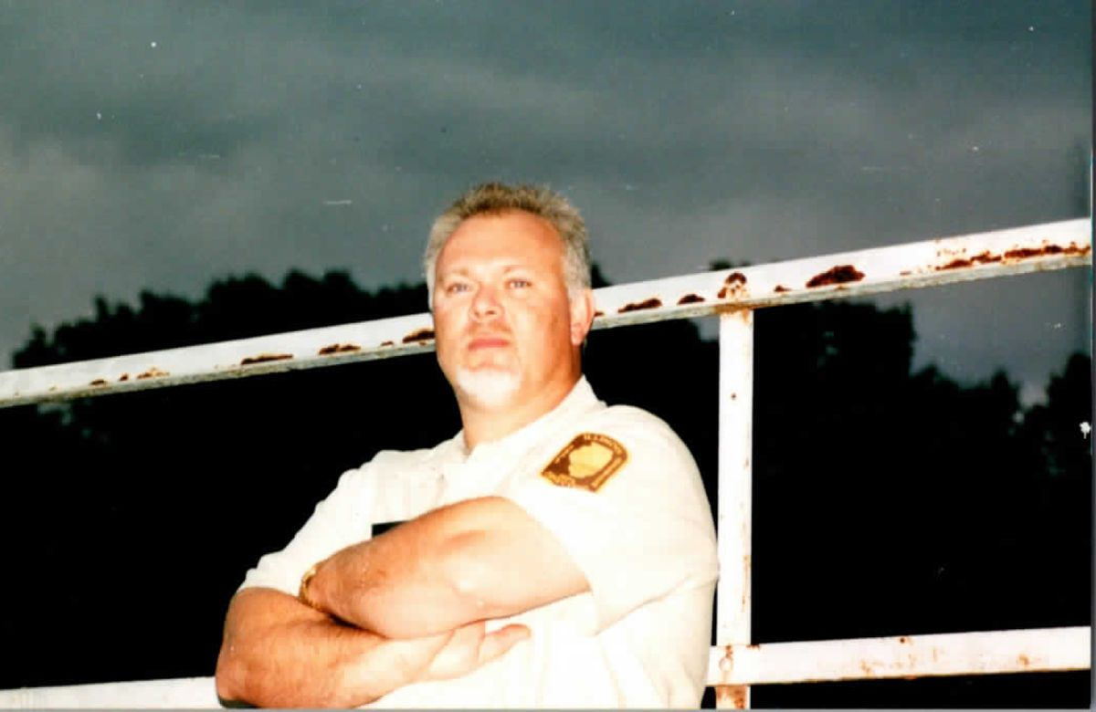 Randy Hellmann in his Illinois Department of Corrections uniform