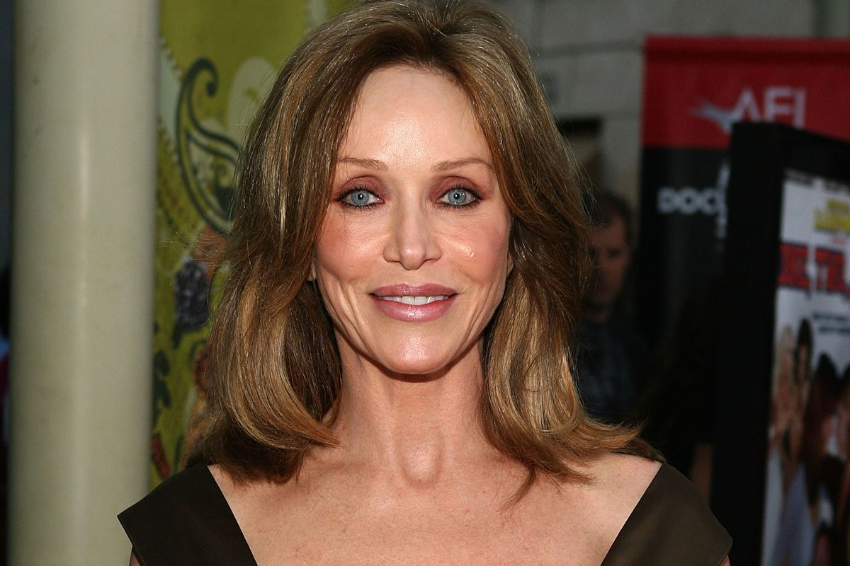 """Actress Tanya Roberts arrives at the National Lampoon Premiere of """"One, Two, Many"""" at the Arclight Theatre, in 2008 in Los Angeles, California."""
