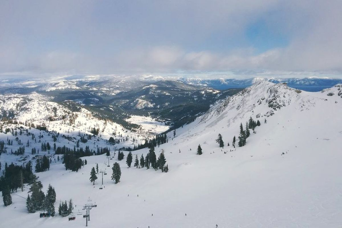 Squaw Valley from the top of Siberia.