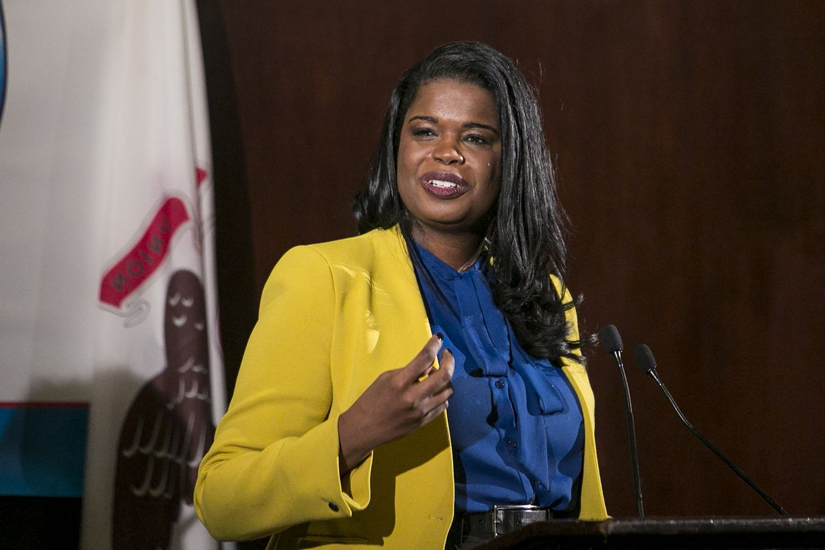 Cook County State's Attorney Kim Foxx speaks to the City Club in 2018. File Photo.