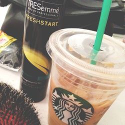 A perfect afternoon pick me up! Fresh Start Color Care Dry Shampoo has been the star product for every look so far, and the Starbucks soy latte isn't so bad either.