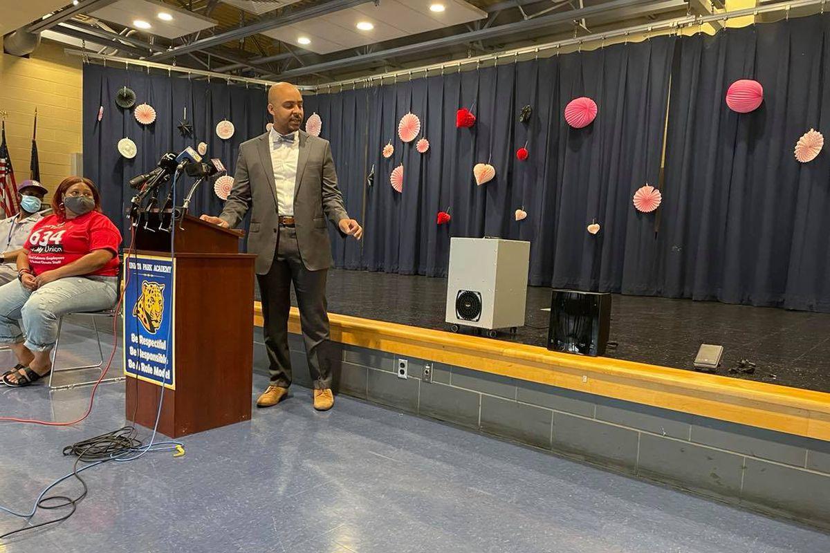 School District of Philadelphia Chief Operating Officer Reggie McNeil