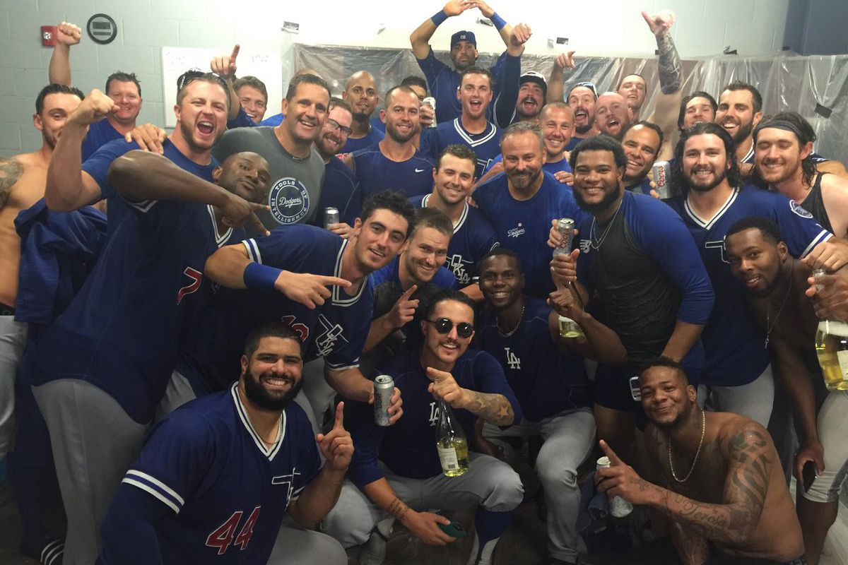 Oklahoma City celebrates its PCL American Conference series win on Sunday.