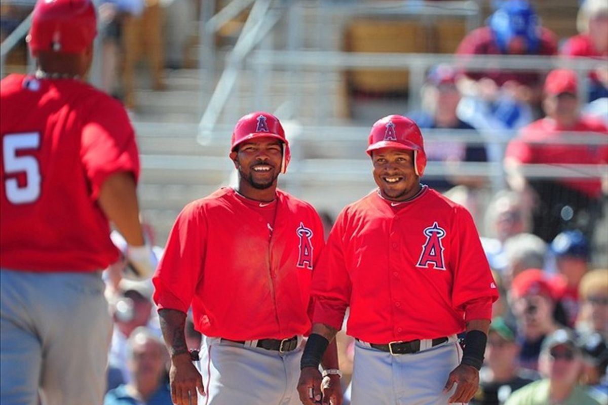 <strong>OUR 3,2,1 HITTERS.</strong> Aybar looks like a five year old on Christmas morning, still not over Albert being an Angel.