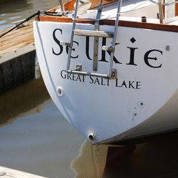Some smaller boats can still be sailed on the Great Salt Lake on Friday, Sept. 2, 2016. The marina was last dredged in 2008 and needs to be dredged another 5 feet.