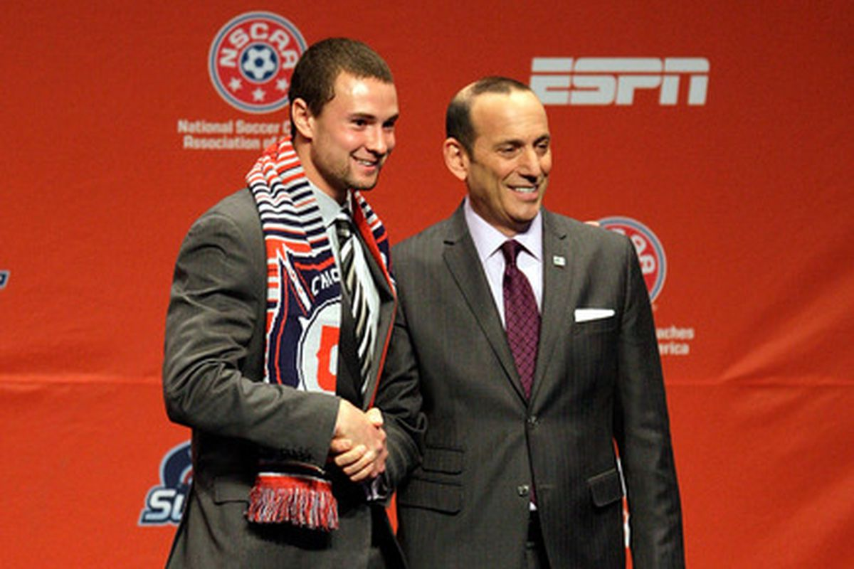 Austin Berry, the 2012 MLS Rookie of the Year, was selected 9th overall by Chicago.
