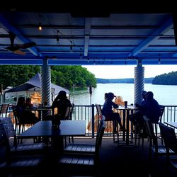 The restaurant's patio obviously faces Lake Lanier.