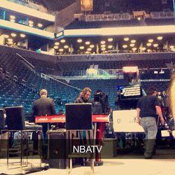 NBA TV crew setting up