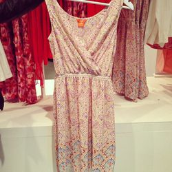 The store's most expensive item is this 100% silk smocked-waist dress.