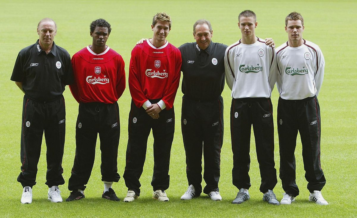 Gerard Houllier poses with new signings