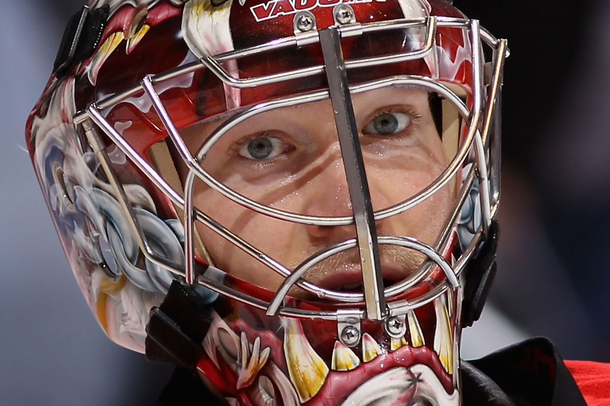 """Justin """"Pete Dawg"""" Peters made a career high 47 saves against Tampa Bay"""