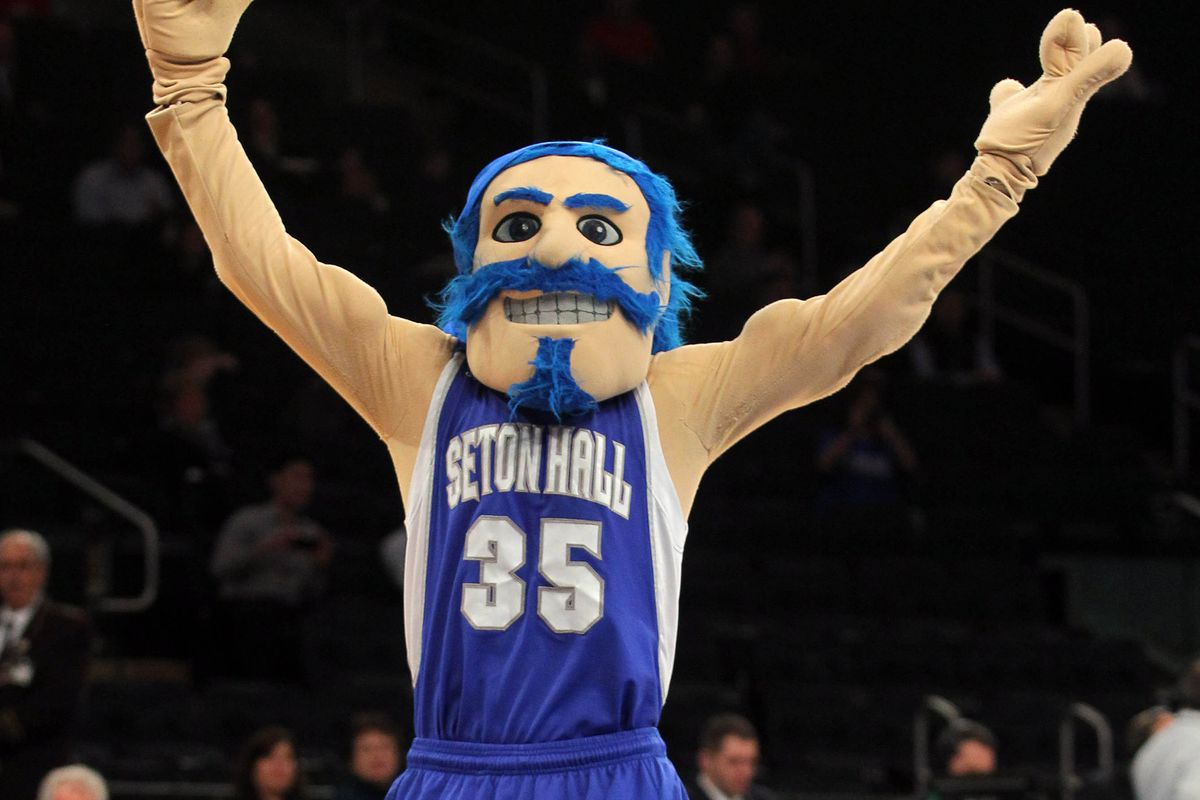 This is the only useable picture of Seton Hall's mascot.
