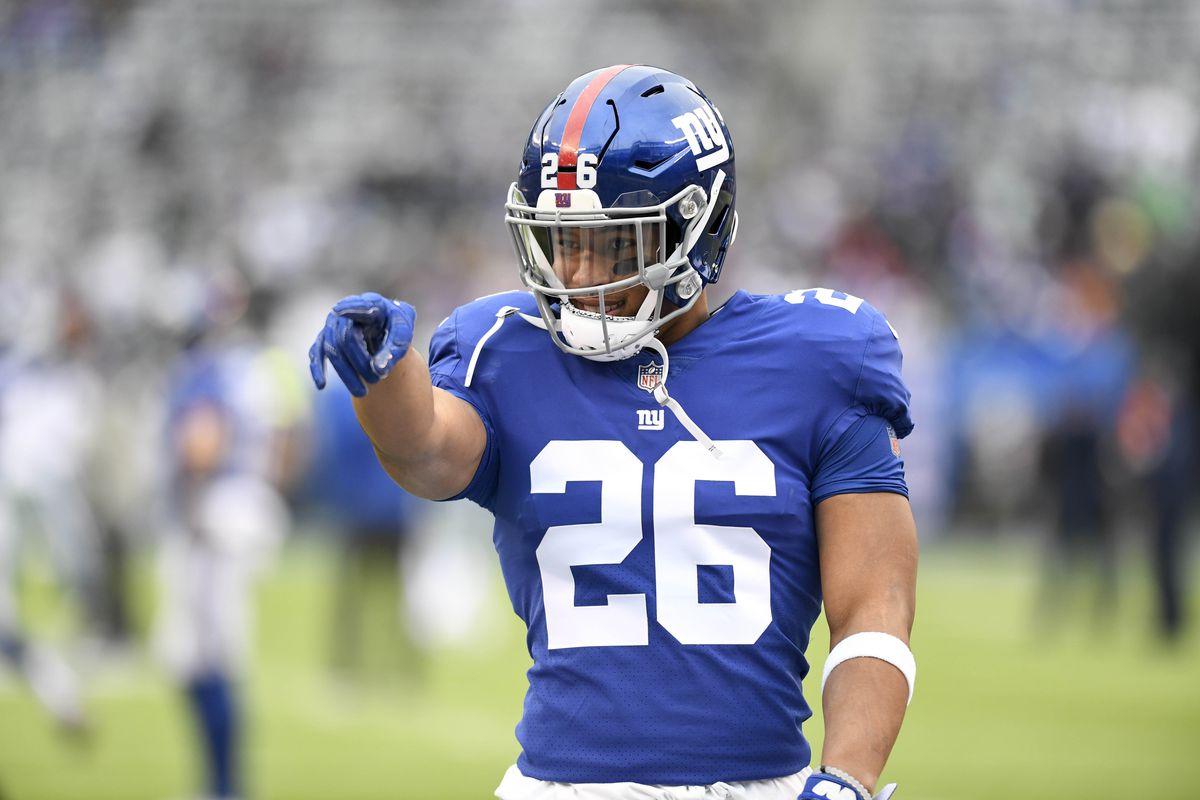new styles 561cf 3fe19 Saquon Barkley optimistic about Daniel Jones, 2019 Giants ...