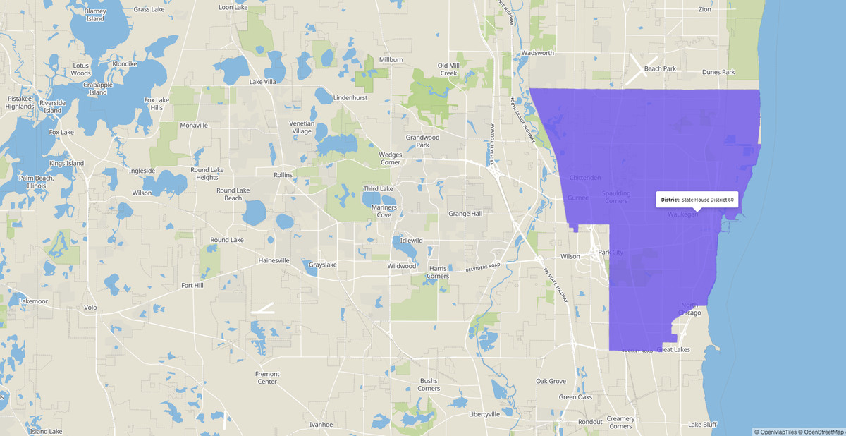 Illinois House 60th District map.