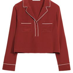 Silk shirt, $145