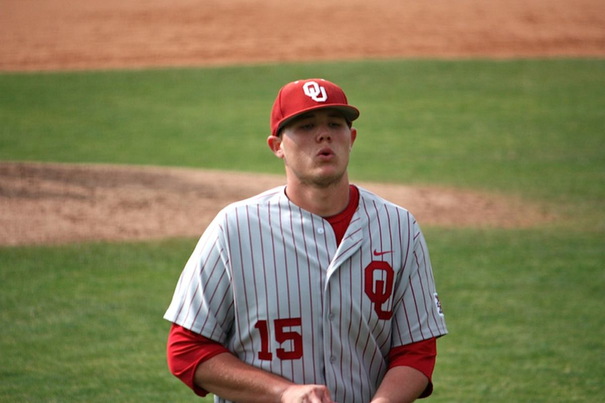 """Steven Okert will move from Sunday to the Saturday starter this weekend against New Mexico. Photo via <a href=""""http://www.collegebaseballdaily.com/wp-content/gallery/oklahoma-vs-pepperdine-2/img_6230.jpg"""">www.collegebaseballdaily.com</a>"""