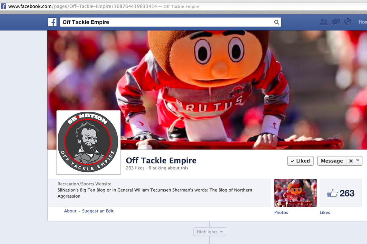 Yes, this is a picture of our facebook page.