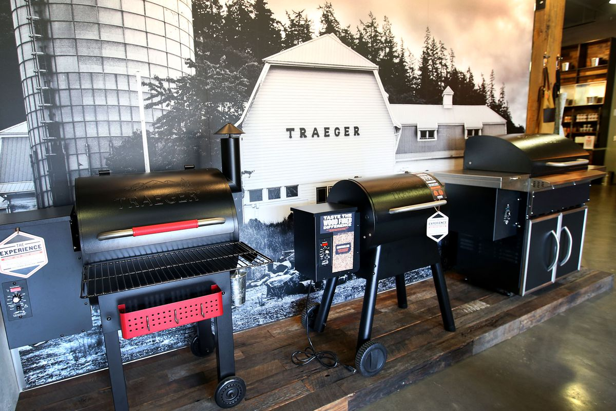 Traeger products are on display at the company's office in Sugar House on Wednesday, Nov. 1, 2017.