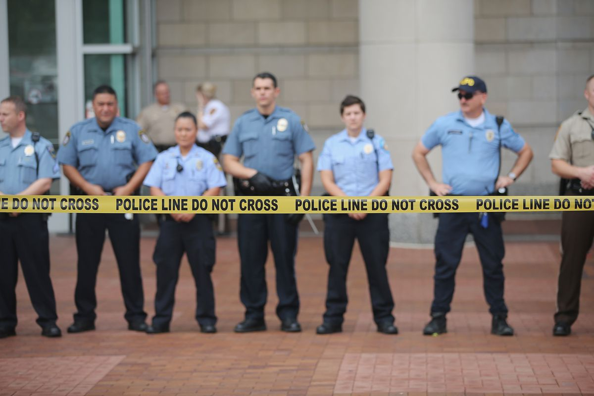 Courthouse Police Line