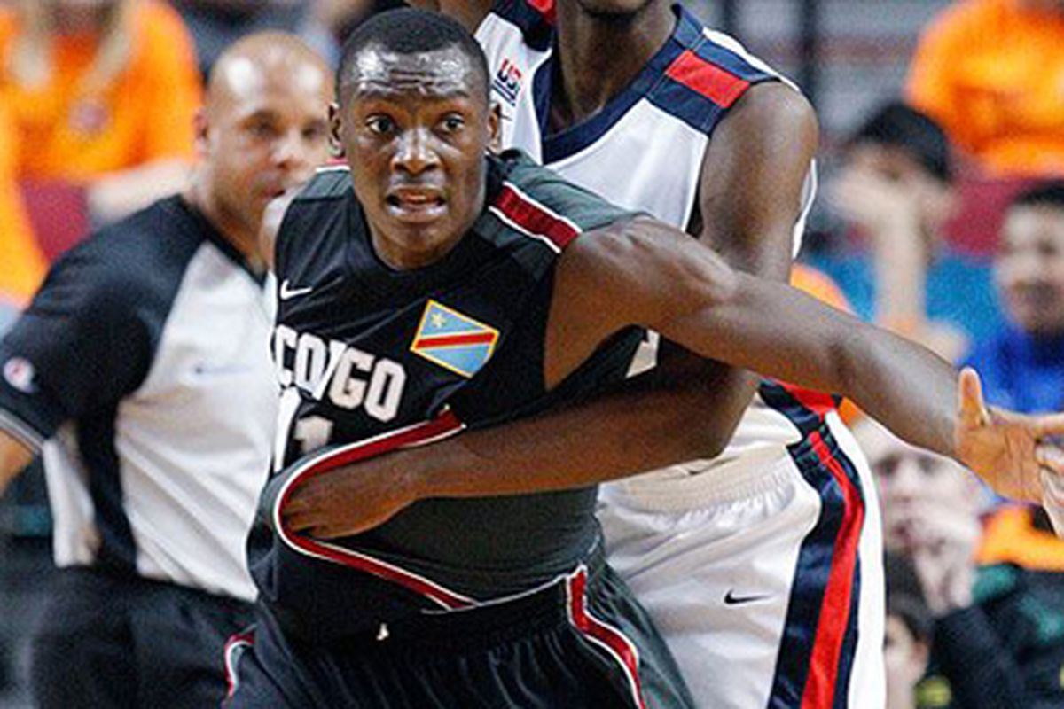 Bismack Biyombo looks difficult to guard.