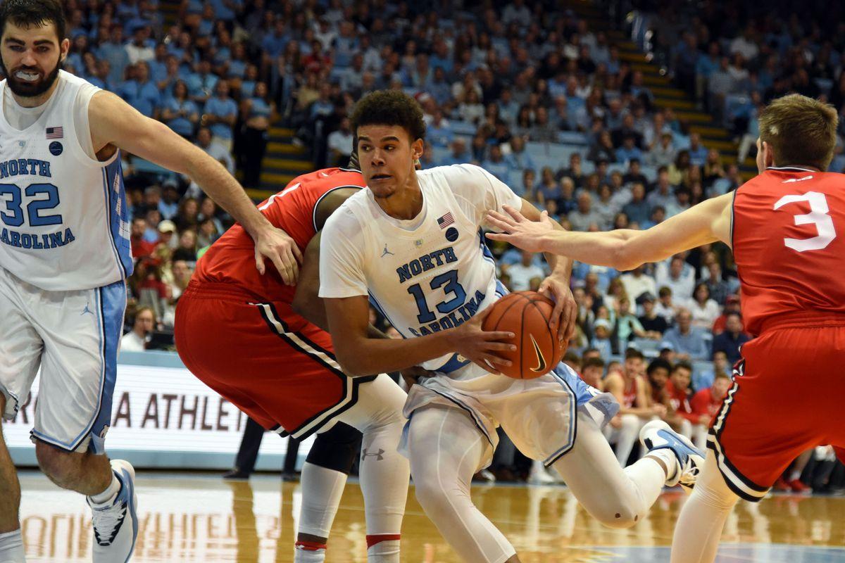 unc basketball vs davidson player of the game cam johnson tar