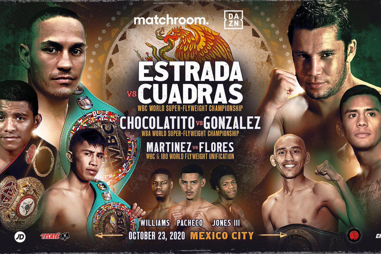 EixrC6bXkAES8pk.0 - Estrada, Chocolatito, Martinez tripleheader official for Oct. 23