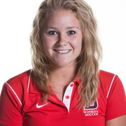 DSU women's soccer junior forward Darian McCloy poses for her headshot.