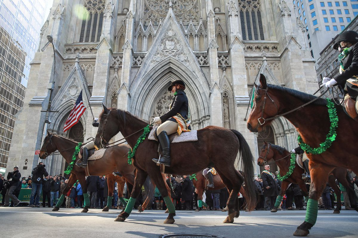 Annual St. Patrick's Day Parade Held On New York's 5th Avenue