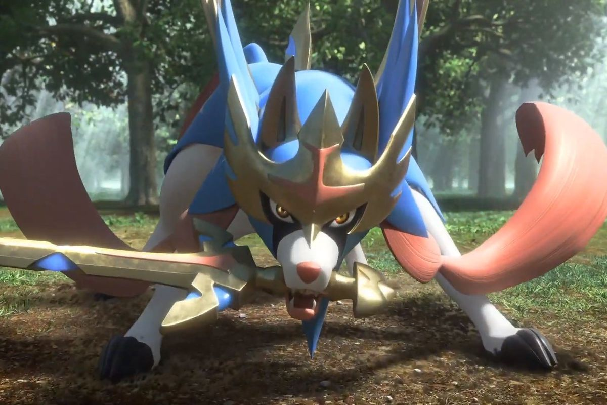 Zacian from Pokémon Sword and Shield