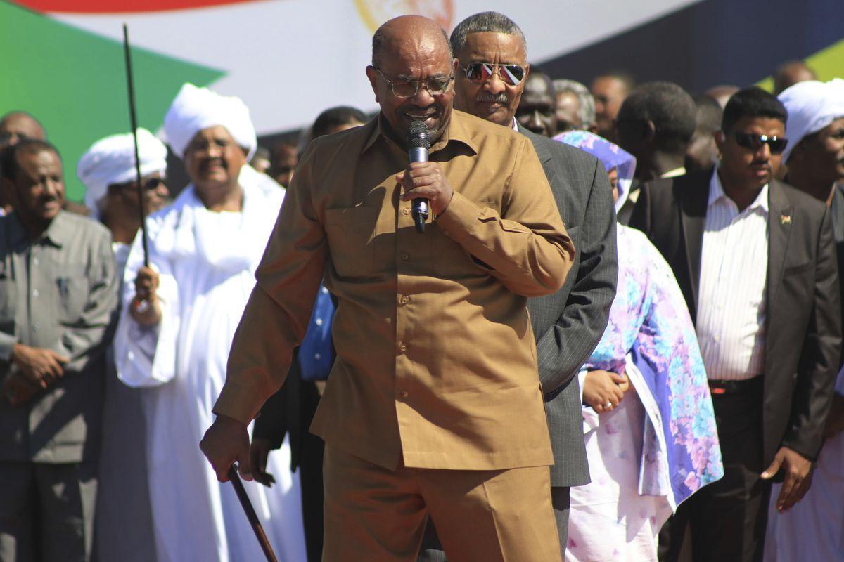 Former Sudanese President Omar al-Bashir at a rally in Khartoum, Sudan, in January 2019.