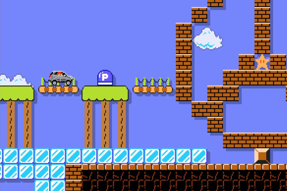 You can play Super Mario Maker as Mario driving a Mercedes-Benz SUV
