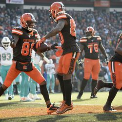 November 2019: In Week 12, the Browns jumped out to a 28-0 first half lead against the Miami Dolphins, including two touchdown catches for WR Jarvis Landry against his former team. Things started to get a little nervous when Ryan Fitzpatrick led Miami to 17 unanswered points, but Cleveland picked up the gas again in the fourth quarter on the way to a 41-24 win.