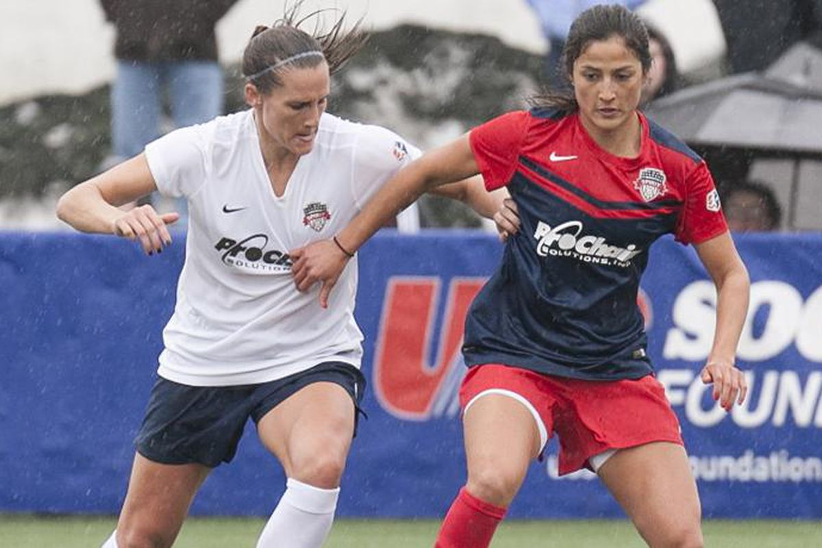Skogerboe (right) joins the Thorns after a short stint overseas.