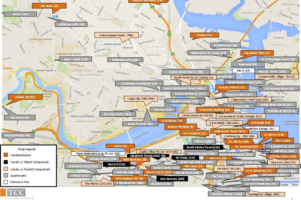 New Apartments Going Up Everywhere In Greater Boston Curbed Boston - Map of  boston harvard