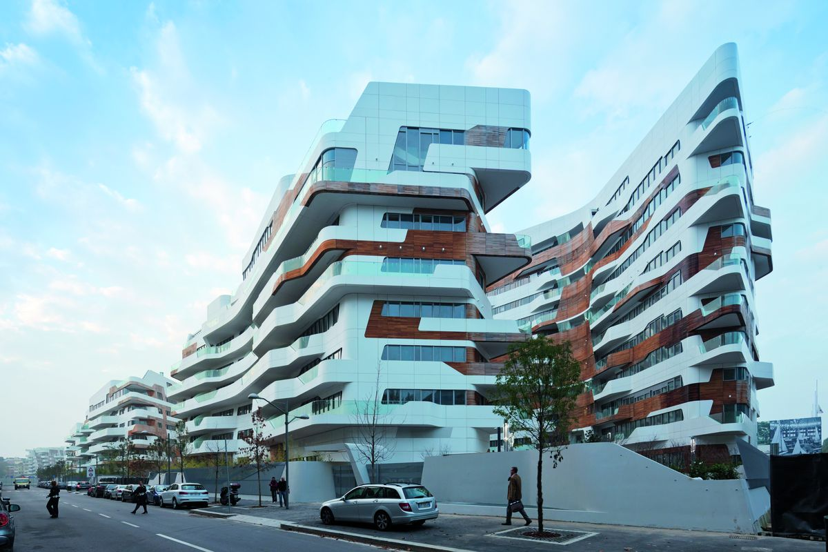 The Residential Part Of Vast Citylife Development In Milan Designed By Zaha Hadid Architects Is A Complex Seven Upscale Apartment Blocks On