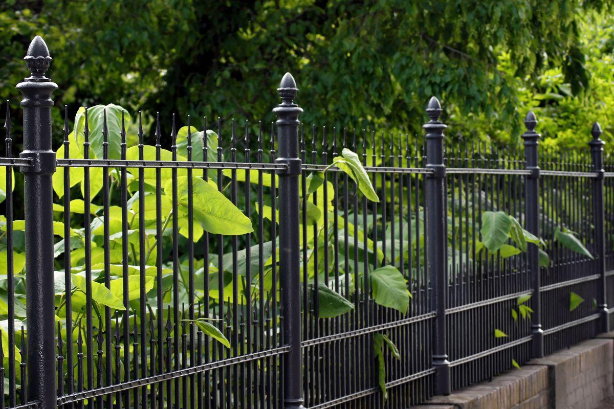 Ornamental black fence.