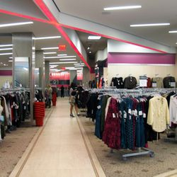 The women's section has feminine pink accents.