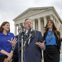 Attorney Douglas Laycock, center, has argued five cases before the Supreme Court. He said Christian conservative legal organizations have been too aggressive with their legal tactics, hurting religious freedom's reputation in the process.