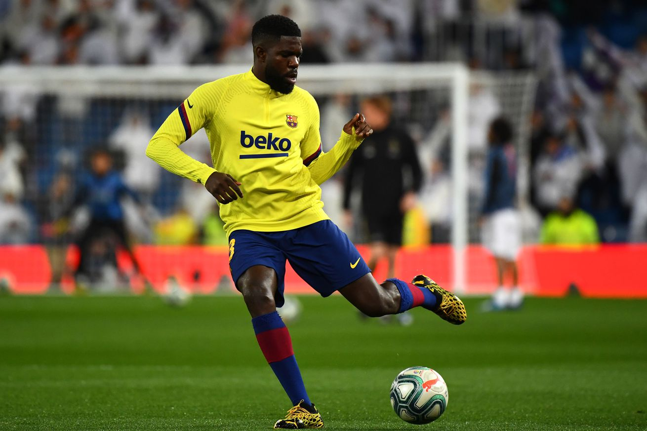 Setien offers worrying update on Samuel Umtiti