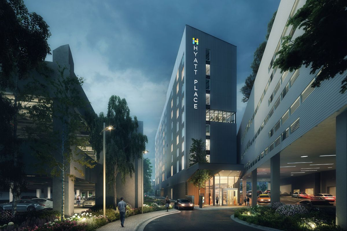 a rendering of the hotel to come