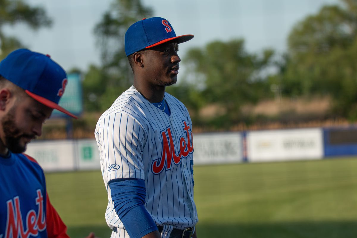 Franklyn Kilome before the Syracuse Mets game on May 20, 2021.